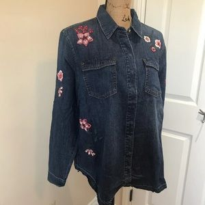 New Juicy Couture Denim Shirt Black Label Large